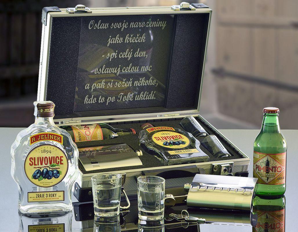 Jelínek Slivovice AL Kufr Contraband